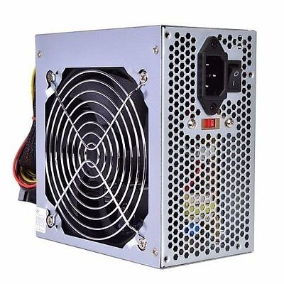 ULTRA QUIET Powork 650w-Max ATX Power Supply 12CM Fan SATA 20+4pin-Brand NEW