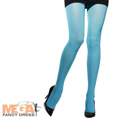 Blue Tights Adults Fancy Dress Halloween Smurf Ladies Womens Costume