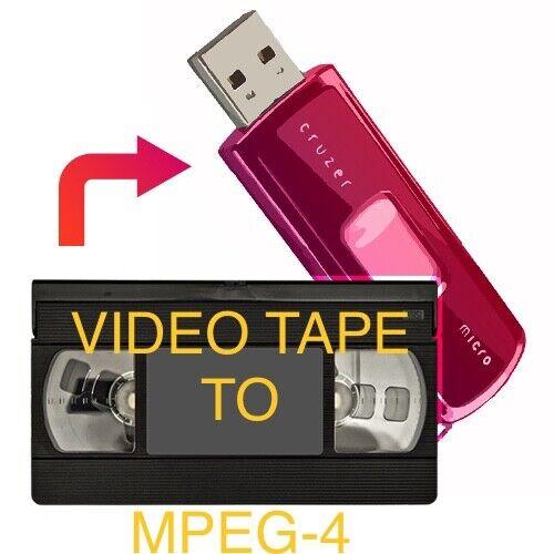 TAPE TRANSFER SERVICE * 20 VIDEO TAPES to Flash Drive MPEG4  VHS VHS-C MiniDV..