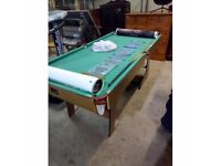 6foot by 3 ft pool table plus balls tiangle and one que - free delivery