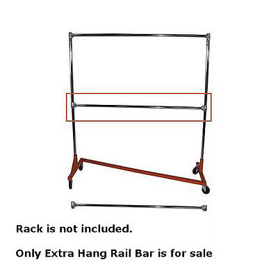 Extra Hang Rail Bar In Chrome For Heavy Duty Z Truck Clothing Racks