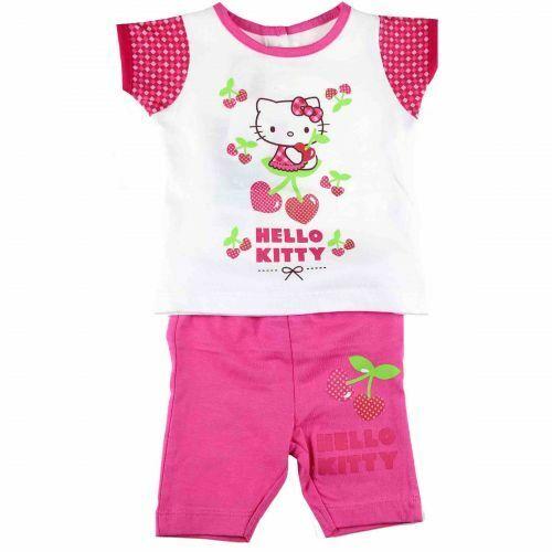Hello Kitty Baby Set T-Shirt mit Leggings Sommer Set 100% Baumwolle Rosa Pink