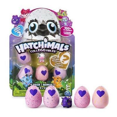 Hatchimals Season 2 Colleggtables Egg 4 Pack + Bonus Golden Hatchimal Chance