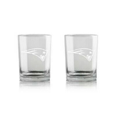 TWO (2) NEW ENGLAND PATRIOTS 16oz WHISKEY GLASSES (GIFT PACK) FROM DUCKHOUSE