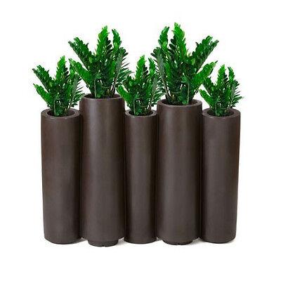 SLIDE vaso fioriera per interni ed esterni BAMBOO in polietilene