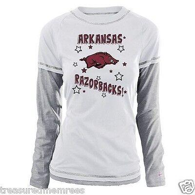 Arkansas Razorbacks Long Sleeve Mock Layer Shirt ~ Large (11/13) ~ NWT $30