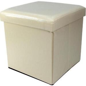 Leather Storage Footstools