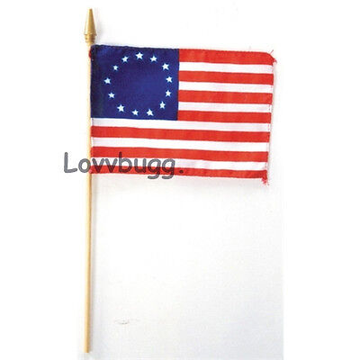 "Lovvbugg 13-Star Flag Colonial Miniature for 18"" American Girl Doll Accessory"