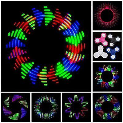 Fidget Spinner LED Light Up Glow Pattern Hand Finger Stress Relief Toy EDC Rave ()