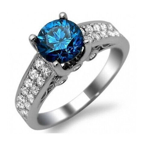 Womens Gold Plated Ring White Band Cubic Zirconia Cut Cz Elements Topaz Created Fashion Jewelry