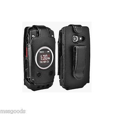Premium Leather Fitted Case Belt Clip Black Casio GZone Ravine 2 C781 Verizon (Fit Premium Leather Case)