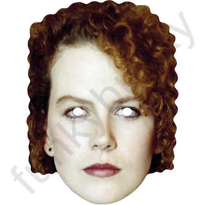Nicole Kidman Celebrity (Nicole Kidman Celebrity Retro 1980's 80s Card Mask. All Our Masks Are Pre-Cut!)