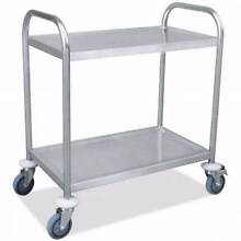 NEW Durable Stainless Steel Two-Tier Kitchen Trolley Wilson Canning Area Preview