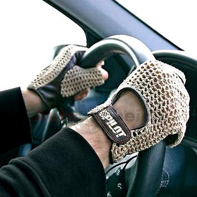 Autofahrer Handschuhe Auto Fahrerhandschuhe Vintage Retro Lammleder Leder Braun