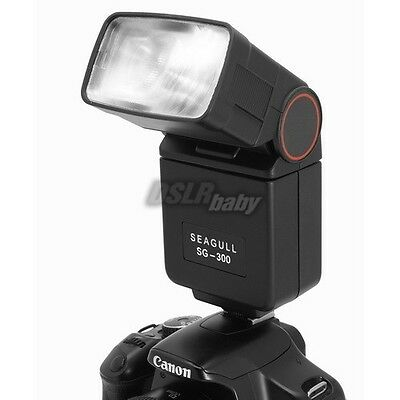 SEAGULL SG-300 Universal Hot Shoe Flash Light Speedlite For Canon Nikon Camera