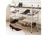 Metal shoe rack in mint conditions .