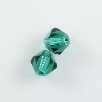 30pcs Swarovski 6mm Bicone Crystal beads B Peacock-green L-5