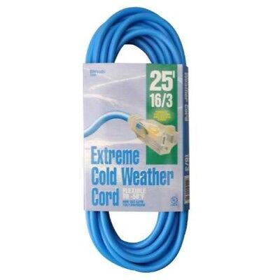 25-Foot Yellow Woods 831 SPT-2 16//3 Flat Utility Extension Cord