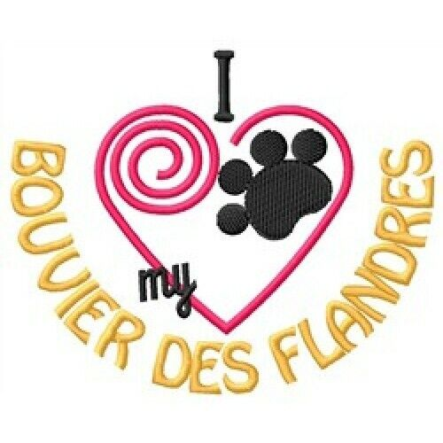 "I ""Heart"" My Bouvier des Flandres Short-Sleeved T-Shirt 1289-2"