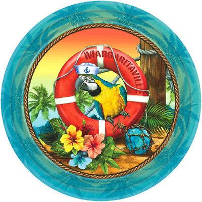 HAWAIIAN LUAU Margaritaville SMALL PAPER PLATES (18) ~ Birthday Party Supplies - Hawaiian Paper Plates