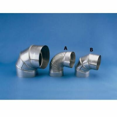 Chimney 21955 Heat-Fab Relining Pipe - 304-SS - 9 Inch 90 Degree Elbow Chimney Reliner Pipe