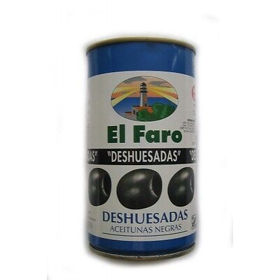 Spanish Pitted Black Olives - Aceitunas Negras - 350gr TIN - NEXT...