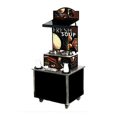 Vollrath 3702802 Cayenne Soup Kiosk-free Standing Merchandiser W Tuscan Graphic
