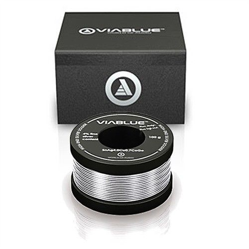 Coil 100 g.SILVER SOLDER WIRE ViaBlue™ High-End Technologies