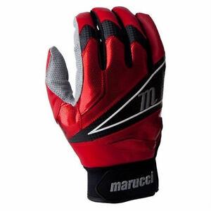 Marucci Elite Professional Batting Gloves Cabretta Leather, Red Size: XL
