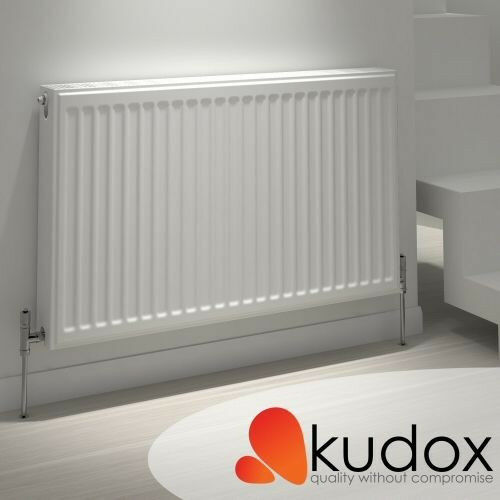 White T22 Double Panel Radiator With Thermostat Valve New In Box