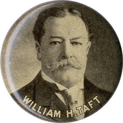 1908 / 1912 William H. Taft Celluloid Picture Button (2041)