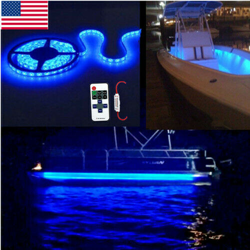 LED Boat Light Strip Deck Blue Waterproof IP65 Bow Trailer Pontoon Lights Marine