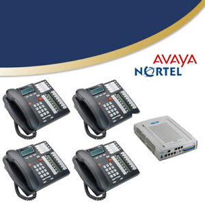 Nortel Avaya BCM50 Phone System with 4 phones-Fully Installed