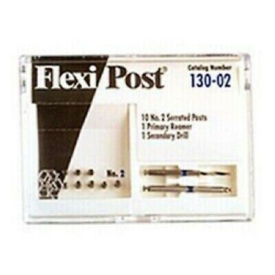 Eds Flexi Post 2 Blue Stainless Steel Post Refill - 10 Serrated Post Refill