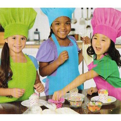 BAKING PARTY KIDS CHEF HATS (3) ~ Cupcake Birthday Supplies Favor Costume - Party Chef Hats