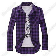 Mens Slim Fit Purple Shirt