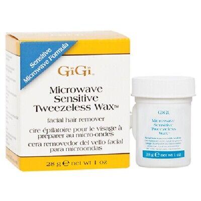 GiGi Microwave Sensitive Tweezeless Wax Facial Hair Remover 1 oz ()