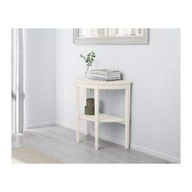 White Corner Curved Lamp Table - Ideal for Living Room, Hallway etc (Paid £190 NEW)