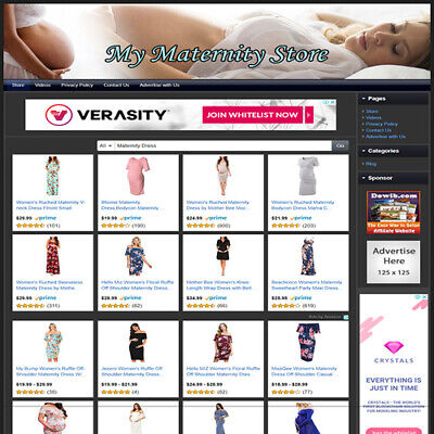 Motherhood Maternity Dress Store Make Money Online Business Website For Sale