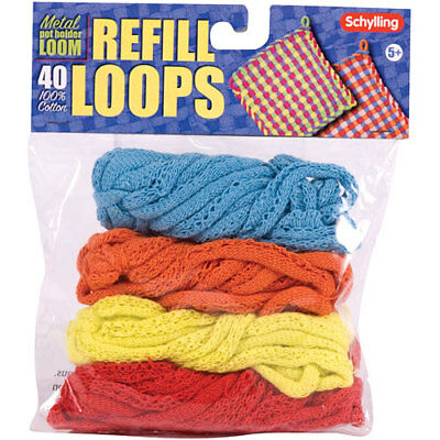 Schylling Toys Replacement Loops for Metal Potholder Loom #NLR