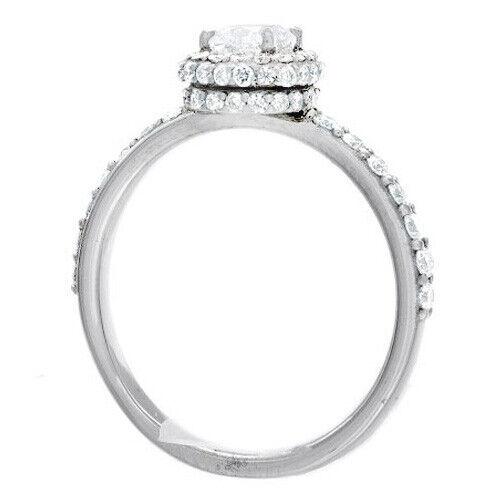 Natural GIA Certified 1.78 carat Cushion Cut Diamond Engagement Ring 14k Gold 2