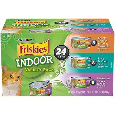 Purina Friskies Indoor Adult Wet Cat Food Variety Pack   Twenty Four  24  5 5