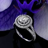 2 CT Diamond Engagement Ring Round Cut 14K White Gold D SI Enhanced