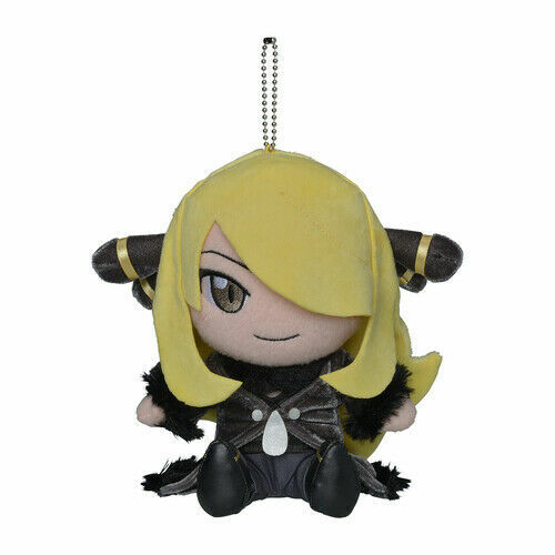 "Pokemon Center Japan OFFICIAL Pokemon Trainers keychain Plush doll CYNTHIA 7"""