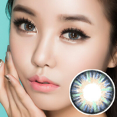 Blau Farbige Kontaktlinsen Color Contact Circle Lenses DIA14.5mm VaBl