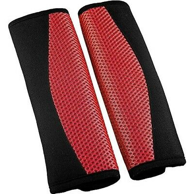 XtremeAuto® Universal fit RED Car Seat Belt Comfort Pads/Covers/Cushions