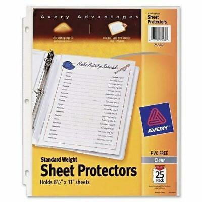 "Avery Standard Weight Clear Sheet Protectors, 8.5"" x 11"", Acid-Free, Archival .."