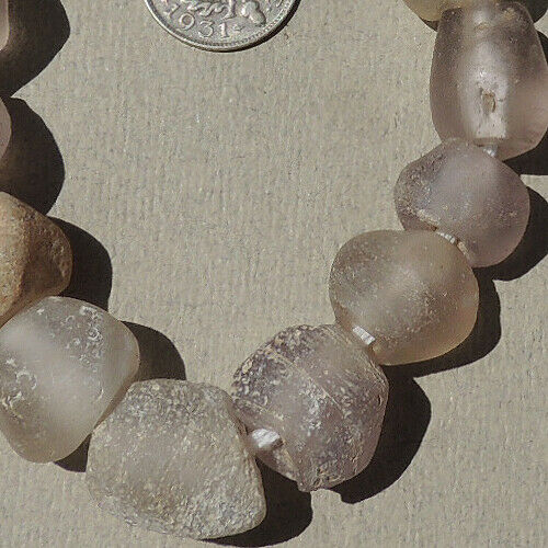 a group of old antique dutch glass beads senegal and mali 1700s #1734