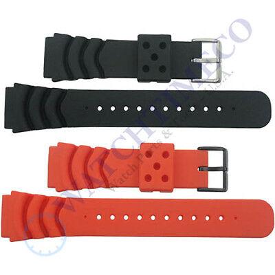 22 mm Soft Rubber Diver Watch Band Strap for Seiko Z22 4FY8JZ SKX007 SKX009 22 Mm Soft Rubber