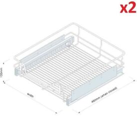 2x Innostor WWFC4600 Pullout Pull-Out Basket for 600 mm Kitchen Cabinet Unit
